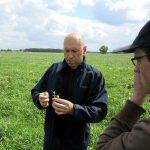 Pan Jacek z firmy Dow AgroSciences ocenił zachwaszczenie i możliwości eliminacji najbardziej uciążliwych chwastów